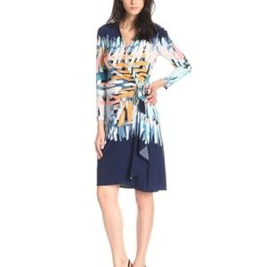 "BCBGMAXAZRIA Wrap ""Adele"" Dress Small Knee-Length"